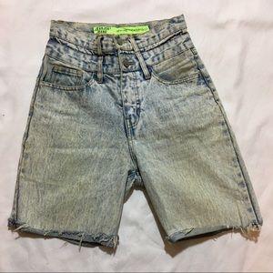 80s High Waisted Stonewashed Jean Shorts Vintage